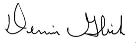 Dennis Glick signature